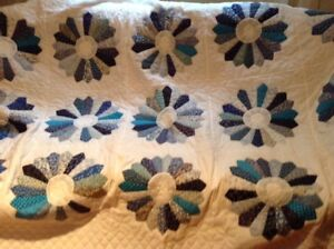 Quilt, hand quilted plus cushion, pillow cases and afghan