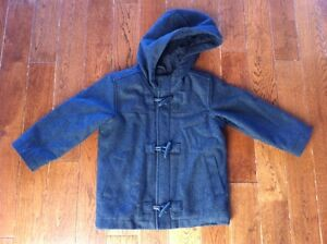 Girls Size 3T - Old Navy - Charcoal Grey Wool Coat