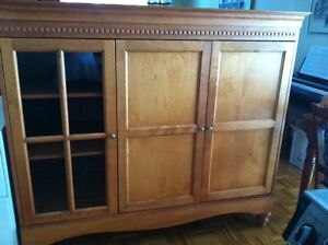 Solid maple wood TV cabinet and sofa table