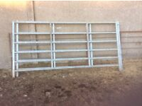 4 galvanized cattle gates with pins ,
