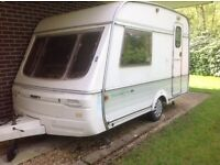 Swift 2-Berth Minuette Diamond Caravan. One owner from new. Regularly serviced. 2 Awnings.