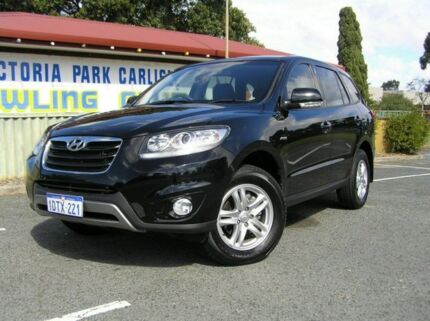 2011 Hyundai Santa Fe MY10 SLX Black 6 Speed Automatic Wagon Victoria Park Victoria Park Area Preview