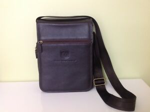 Dark Brown Leather Bag, Rocky Mountaineer