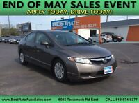 2010 Honda Civic DX-G! ONLY 68000 KM'S! EXCELLENT CONDITION!