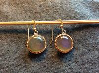 Boucles d'oreille en argent plaqué or+ labrador