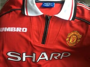 736af1b0c CLASSIC MANCHESTER UNITED SHIRT 1998 1999 BECKHAM GIGGS SCHOLES ALL SIZES