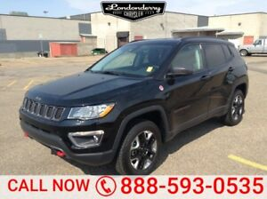 2017 Jeep Compass 4WD TRAILHAWK Leather,  Back-up Cam,  Bluetoot