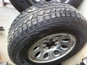 GREAT DEAL! Hankook iPike RW11 Studded Tires with Rims 265/70/17 Prince George British Columbia image 3