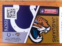 2, 4 or 6 HALFWAY LINE tickets for NFL Colts vs Jaguars (at Wembley) - £80 each