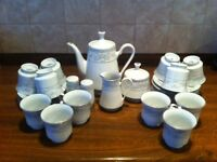 Crown Ming fine china Rose Point tea set.