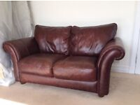 2 & 3 seat sofas in brown leather