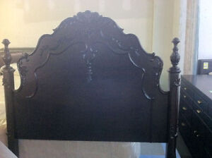 twin (single) dark brown headboard - delivery available