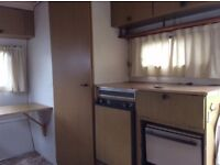 1985 Monza 4.3S touring caravan. 5 berth incl bunk, 3 way fridge, 2 burner hob, grill and oven