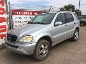 2002 Mercedes Benz ML320, AUTO, AWD, LEATHER, ROOF, $2,200