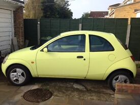Ford Ka for sale - needs some TLC only £300!! Great yellow colour!!!