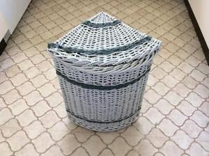 VINTAGE SMALL CORNER CANE LAUNDRY BASKET South Perth South Perth Area Preview