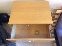 Wooden 2-drawer storage unit £50 for quick sale - collection only WxLxH(cm): 60 x 82 x 73 cm