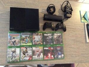 Xbox One for sale plus 10 games or trade for a iPhone