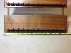 Vintage wood spoon rack holder display - holds 72 spoons Cambridge Kitchener Area image 2