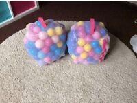 2 full bags of play balls