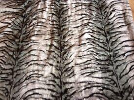 Faux Fur material Bengal Tiger