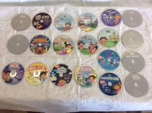 20 DVDS OF DORA AND DIEGO:  NO SCRATCHES