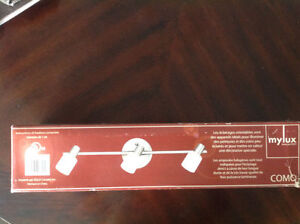 Brand new Como ceiling or vanity track light with 3 lights