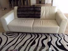 White Nick Scali Leather Lounges Neutral Bay North Sydney Area Preview