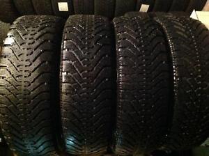 4 pneus d'hiver 195/65 r15 goodyear nordic ,,, 100$