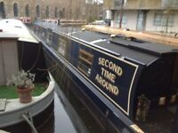 60ft Liveaboard Narrow Boat with Permanent Secure Mooring