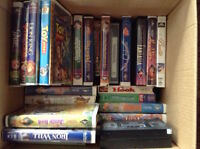 Box of 37 Children's Movies - VHS format