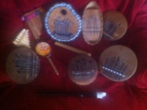 African and Peruvian instrument lot.