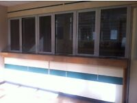 FREE - SHOP COUNTER with Glass Partitions, needs to go ASAP