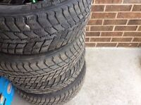 Toyota Camry 4 winter tires 215/60 R16 with rims