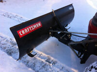 SNOW BLADE ATTACHMENT FOR CRAFTSMAN OR JOHN DEERE LAWN TRACTOR