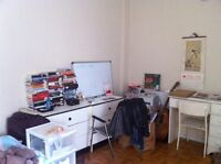 1 1/2 studio for sublet, April ~ August (Near McGill)