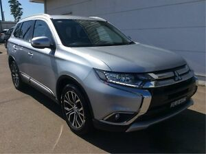 2015 Mitsubishi Outlander ZK MY16 LS 4WD Silver 6 Speed Constant Variable Wagon Cardiff Lake Macquarie Area Preview