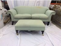 Laura Ashley 2 seater sofa and matching foot stool