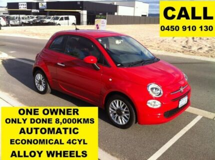 2016 Fiat 500 Series 4 POP Passione Red 5 Speed Automatic Hatchback Ellenbrook Swan Area Preview