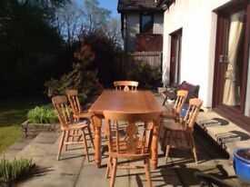 PINE FARM HOUSE STYLE TABLE CHAIRS