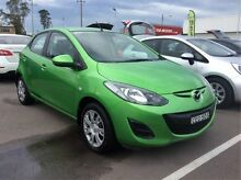 2011 Mazda 2 DE10Y1 MY11 Neo Green 5 Speed Manual Hatchback Cardiff Lake Macquarie Area Preview
