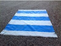 Quality Heavy Duty Plastic Sheet with tie downs (ideal boat cover)