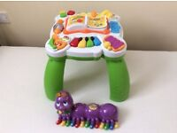Leap Frog Learn + Groove Musical Activity Table And Leap Frog Caterpillar alphabet pal.