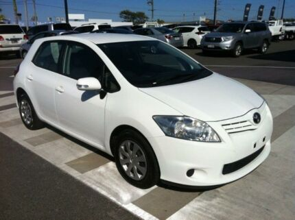 2012 Toyota Corolla ZRE152R MY11 Ascent White 4 Speed Automatic Hatchback Gladstone Gladstone City Preview