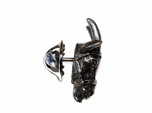 Goat Head Brooch Lapel Pin ~ Artist Roger Wheeler ~ Pewter Alloy 36 ~ Figurine