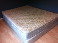 Queen size box spring and mattress