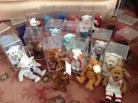 TY Beanie Babies (Beanie Bears) 24 - Incl. (Princess Diana, 9/11 and FIFA World Cup, Army) - £50