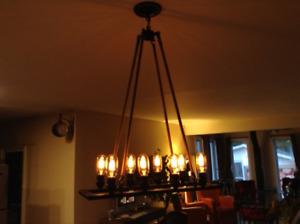 lampe chandelier 8 ampoules incluses