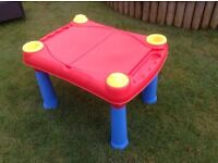 Childs sand and water play table.