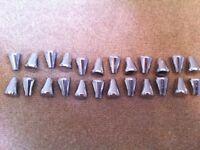 x 24 chrome knobs